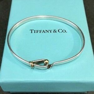 Tiffany and Co. SS & 18K Gold Bangle Bracelet